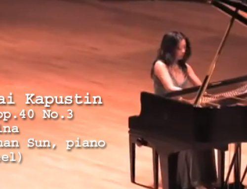 Shan-shan Sun plays Nikolai Kapustin's Toccatina, Hamburg, Steinway D