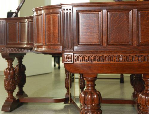 Museum-grade, one of a kind Elizabethan STEINWAY & SONS Model B Artcase Piano
