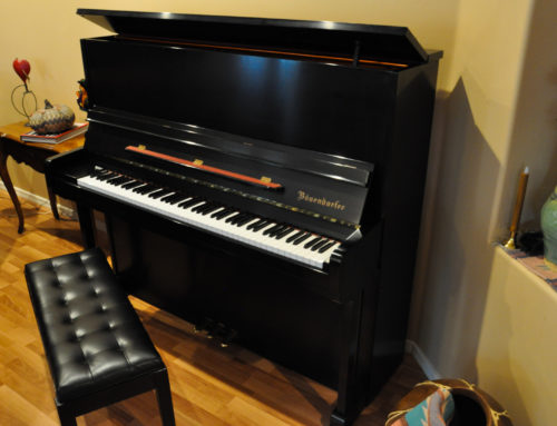 one-owner BOSENDORFER Model 130 Professional Upright Piano